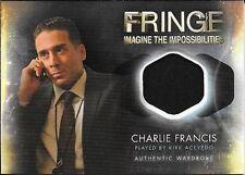 FRINGE - SEASON 1&2 - KIRK ACEVEDO AS CHARLIE FRANCIS WARDROBE CARD - M-7