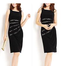 Little Black Party/Race Dress With Lace Waist Size 8
