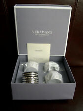 4x Wedgwood Vera Wang With Love Silver Plated Napkin Rings Brand New Boxed