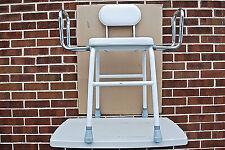 Adjustable Medical Shower Seat With Arms & Backrest for Bath or Shower (#L2622)