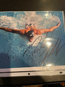 Michael Phelps Autographed Color 8x10 Authenicated