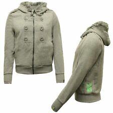 Gio Goi Womens Sweat Hooded Fleece Jacket Grey A11200403 A69D