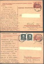 1953 WARSZAWA  POLSKA Cp 135  HUTNICTWO 40 Gr  sygnatura slogany obieg