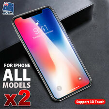 2X iPhone X 8 7 Plus Tempered Glass Screen Protector Guard For Apple 6 6S Plus D