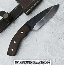 MKS HANDMADE HUNTING HAMMERED D 2 TOOL STEEL SKINNER KNIFE WALNUT WOOD HANDLE