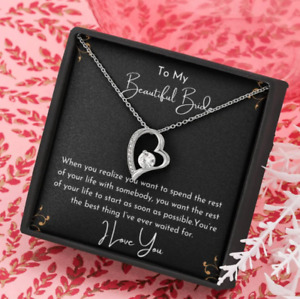 To My Future Wife - Fiancée Necklace, Bride to be Gift Necklace