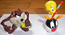 2000 Easter Looney Toons Tweety and Taz Figures Pvc Lot of 2 Guc