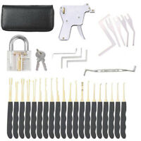 28PCS Practice Lock Pick Kit Padlock Lock Pick Gun Set Double Track Car Locks