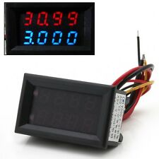 Dual Display 4 Bit Voltage Current Meter DC 0-33V/1A/3A Voltmeter Ammeter