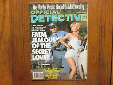 """Nov, 1980 """"Official Detective"""" Mag(FORREST RICHARDSON/CAREY MOORE/MARTIN STEBLER"""