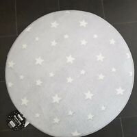 Grey star Rug Mat Bedroom/Nursery - 70x70cm🦄 Girls Pink glow in the dark