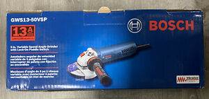 "Bosch GWS13-50VSP 13Amp 5"" Angle Grinder Variable Speed w/Paddle New"