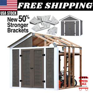 Outdoor 8 x 7ft. Storage Shed Framing Kit Peak Style  Easy Construction Garage