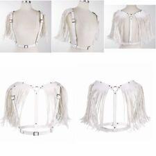 Women Body PU Leather Harness Shoulder Tassel Belt Fancy Dress Costume Clubwear
