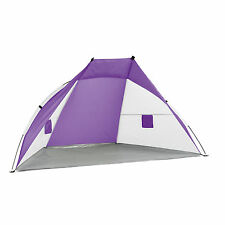 BGG1532 Wilton Bradley Beach Outdoor Beach Shelter Tent Purple 220x 115cm