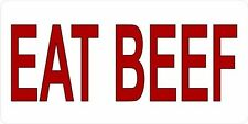 EAT BEEF Photo License Plate #2