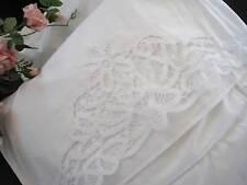 Again !  Elegant TWO Cotton Pillowcases with Hand Battenburg Lace White