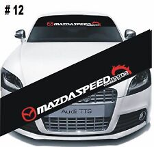 Reflective Mazda Speed Windshield Banner Decal Car Sticker