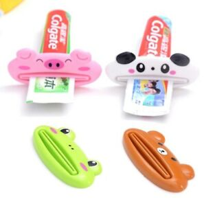 Toothpaste Squeezer Dispenser Bathroom Rolling Tube Cartoon Holder Rack Clip
