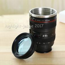 Kamera Objektiv Tasse EF 24-105mm Lens Becher Trinkbecher Kaffeetasse Schwarz