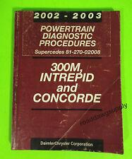 2003 Chrysler 300M Intrepid Concorde Powertrain Diagnostic Service Shop Manual