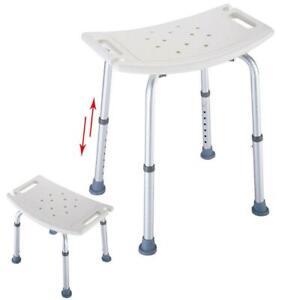Elderly Adjustable Medical Bath Tub Shower Chair Bench Stool Seat 7Height