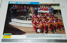 CLIPPING POSTER FOOTBALL 1991-1992 NIMES OLYMPIQUE CROCOS COSTIERES JEAN-BOUIN