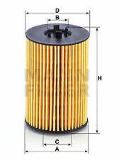 Mann-filter Oil Filter HU7020z fits VW TIGUAN ALLSPACE BW2 2.0 TDI 4motion