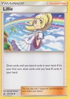 Lillie 125/156 Ultra Prism Uncommon Trainer Card (x4 Cards, Playset)