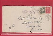 KIRKLAND LAKE ONT. Registered cover 1934 Medallion Cartier Canada