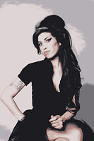AMY WINEHOUSE - QUALITY PRINT ON CANVAS - Stunning Framed Wall Art - Choose Size