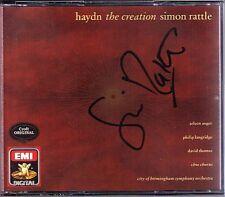 Simon RATTLE Signed HAYDN Die Schöpfung The Creation ARLEEN AUGER LANGRIDGE 2CD