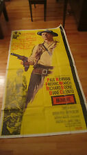 Rare Huge 3 Sheet Original HOMBRE movie poster 1966 PAUL NEWMAN RICHARD BOONE