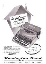 PUBLICITE ADVERTISING 034 1953 REMINGTON RAND machine à écrire