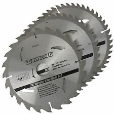 3 Circular Mitre Saw Blades 200mm Diameter 30mm Bore 25 18 & 16mm Bushes 749249