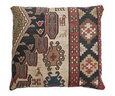 Kilim Caucasian Wool Cushion, circa 1920. Geometric Pattern