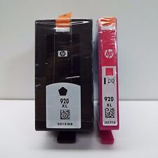 NEW GENUINE HP 920XL BLACK + 920XL MAGENTA INK CARTRIDGE (LOOK DESC.) S1600