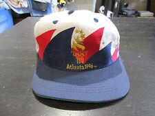 VINTAGE Atlanta 1996 Olympics Double Sharktooth Snap Back Hat Cap Logo Athletic