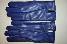 "Paul Smith PS Mens Blue Leather Gloves Mens ""M"" Brand New"