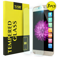 [3-Pack] TJS For Samsung Galaxy J7 V Clear Tempered Glass Screen Protector Guard
