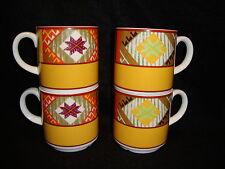 Royal Doulton Hotel Porcelain CAPITAL CHARANGO Stackable COFFEE Tea MUGS Lot x 4