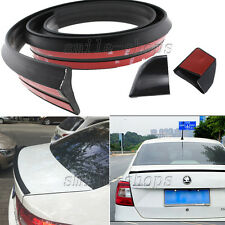 4.9ft Black No Drilling Car Roof Rear Tail Fin Empennage Trunk Spoiler Wing Lip