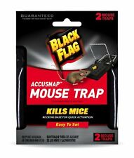 Black Flag Accusnap Mouse Traps Easy to set Kills Mice 2 Mouse Traps Each