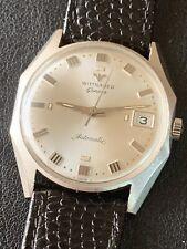Vintage Mens Rare Case Wittnauer Automatic Steel Case Watch Running