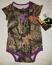 Mossy Oak Camo & Purple Body Suit/ One Piece 18 months Browning