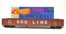 ROUNDHOUSE #1684 ~ HO SCALE ~ 50' SOO LINE GONDOLA SOO #68476 ~ with wood load