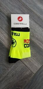 New Fluorescent Yellow &  Black Ross Corsa Cycling Socks Size 7-13
