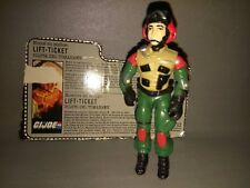 18- FIGURA + CARD/TARJETA IDENTIFICATIVA -GI JOE LIFT TICKET- HASBRO 1986 8
