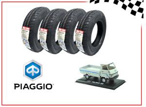 SET 4 PNEUMATICI GOMME COPERTONI 140/70 R12 86N 8PR PER PIAGGIO APE POKER / CAR