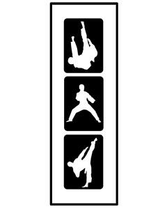Glitzer Tattoo Schablonen 3 teilig Kickboxer, Airbrush